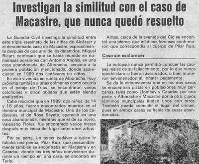similitudes entre el caso Macastre y el caso Alcasser